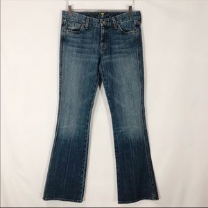 7 For All Mankind A Pocket Boot Cut Jean Size 30